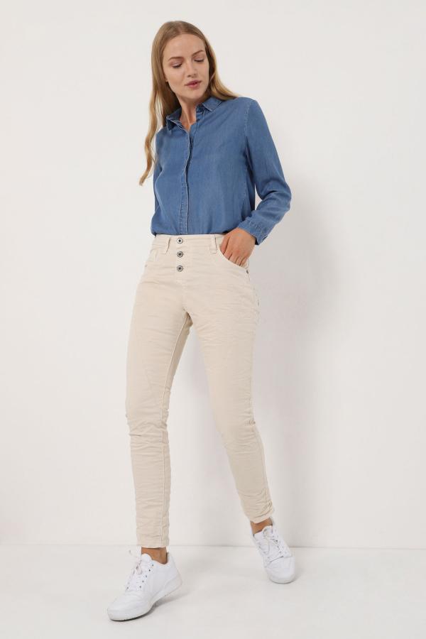 Baggy Jeans mit mittelhohem Bund